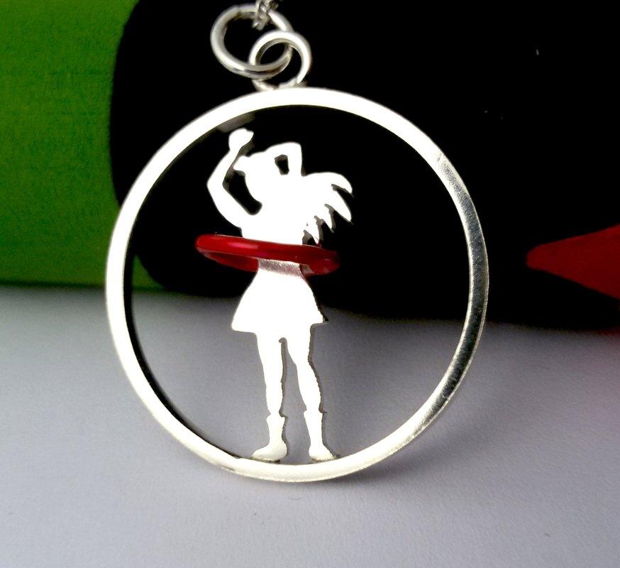 Bailarina de hula hoop